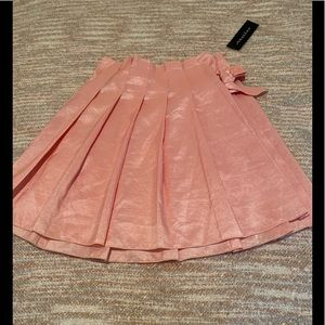 Pink Pleated Wrap Skirt